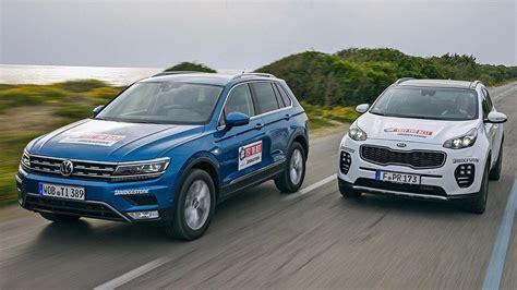 Kia Volkswagen by Comparativa Kia Sportage Vs Vw Tiguan 2016 Autobild Es