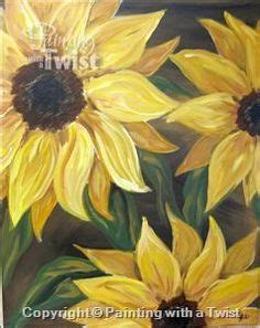 paint with a twist cocoa sunflowers and twists on