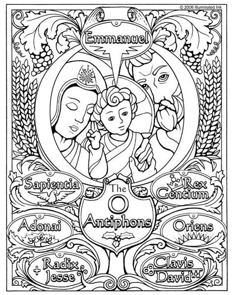 O Antiphons Coloring Pages by O Antiphons Ideas Advent