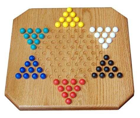 amish oak wood chinese checkers game