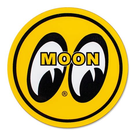 Emblem Mooneyes mooneyes mqqn yellow eyeball logo magnet fender magnets