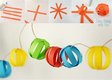 paper garland easy peasy and