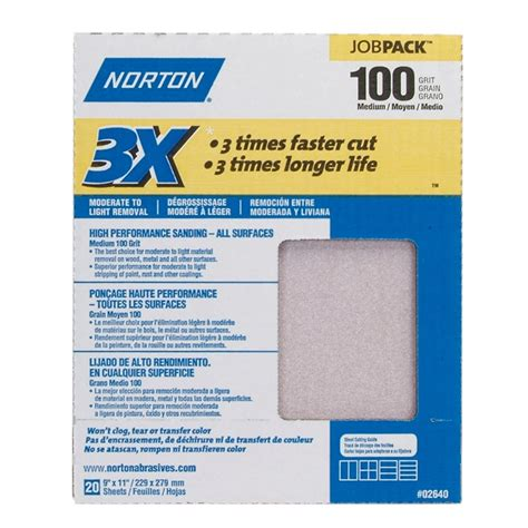 norton sand paper 076607 02640 norton sandpaper 3x high performance sand
