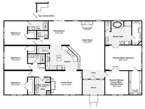 floor plans for homes view the hacienda iii floor plan for a 3012 sq ft palm harbor manufactured home in bossier city