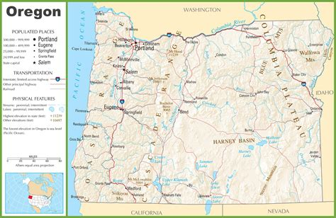 oregon highway map