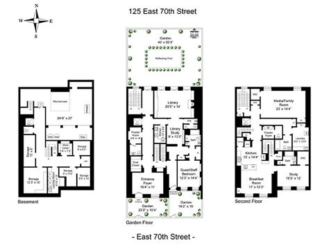 Nyc Floor Plans by 125 E 70th St Mellon House 40 Width New York Ny