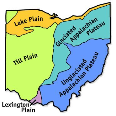 map of ohio regions ohio regions map info for map map key project school
