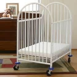La Baby Portable Crib La Baby Compact Metal Non Folding Crib With 3 In Mattress Cribs At Hayneedle