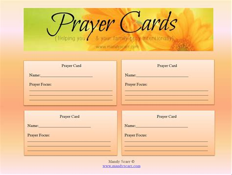 free printable prayer cards template 8 best images of free printable memorial prayer cards