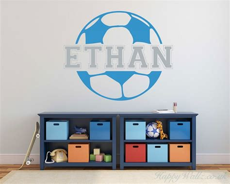 Customized Wall Stickers customized football kids name wall decal name wall
