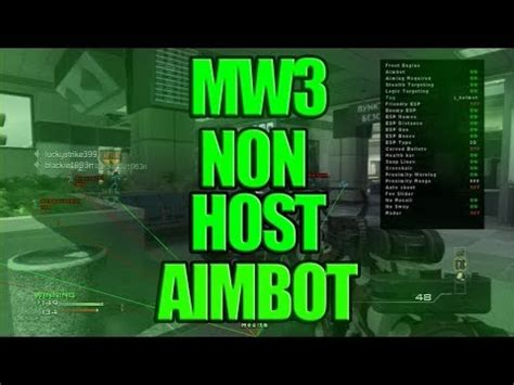 mw3 aimbot hack tutorial xbox 360 aimbot no host janeiro de 2017 mw3 xbox 360 youtube