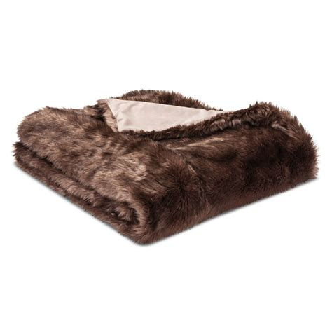 fellimitat decke blanket faux fur throw threshold ebay