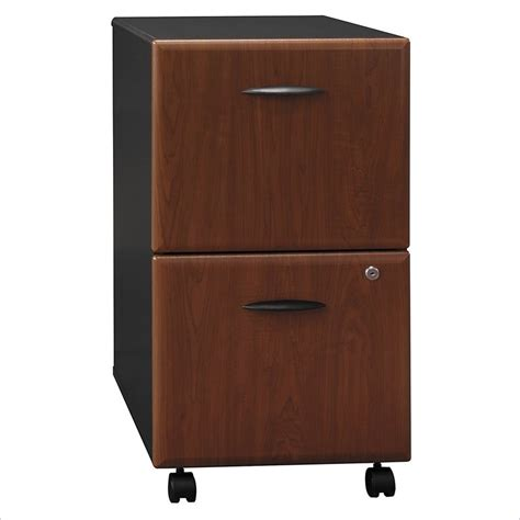 Bush Bbf Series A 2dwr Mobile Pedestal In Hansen Cherry Cherry Wood File Cabinets