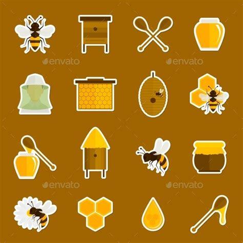 honey bee icon honey bee icon set by macrovector graphicriver