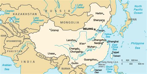 Rivers In China Map by Map Ancient China Information