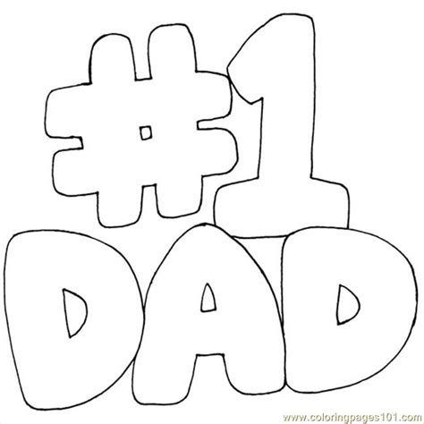 number one dad coloring page free numbers coloring pages