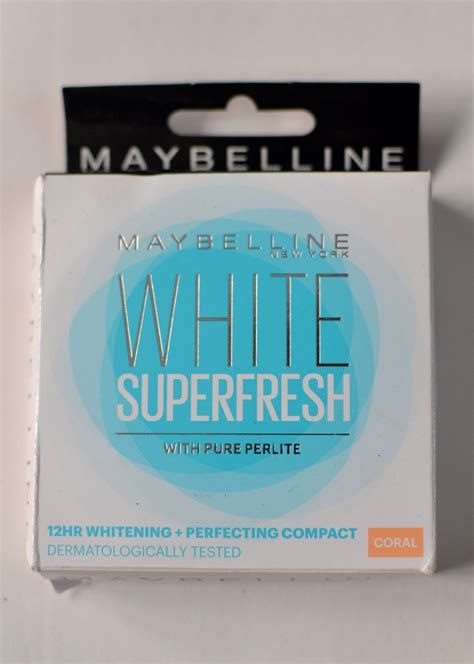 Maybelline White Fresh Liquid maybelline white superfresh 12 hour whitening perfecting compact shade coral review
