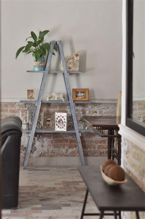 escalera decorativa tipo vintage mueble repisas sala