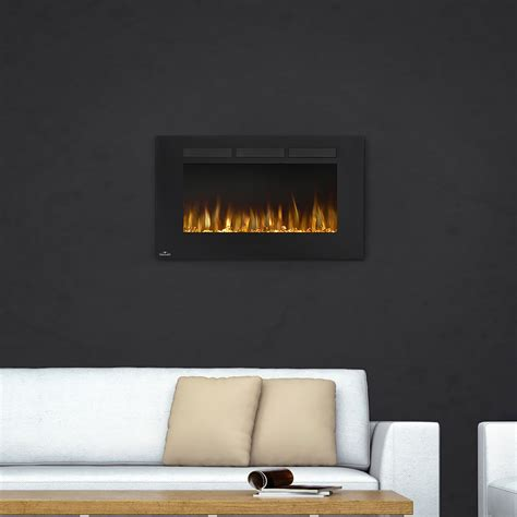 napoleon linear 42 quot nefl42fh napoleon 42 in wall mount electric fireplace nefl42fh