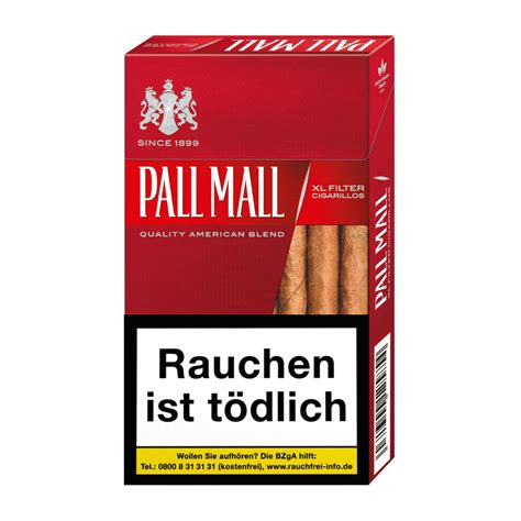 mall reds pall mall red filter cigarillos
