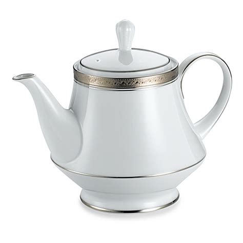 Buy Noritake 174 Crestwood Platinum Teapot From Bed Bath Beyond