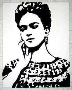 imagenes en blanco y negro de frida kahlo pin by ri ri on frida pinterest stenciling frida