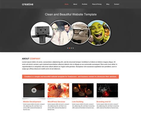 free minisite template 37 free psd website templates web graphic design