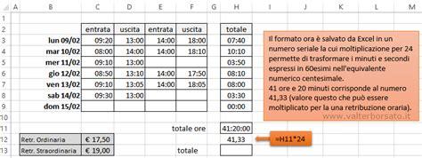 Lavori In Casa Orari by Orario Di Lavoro Excel Calcolo Ore Ordinarie E