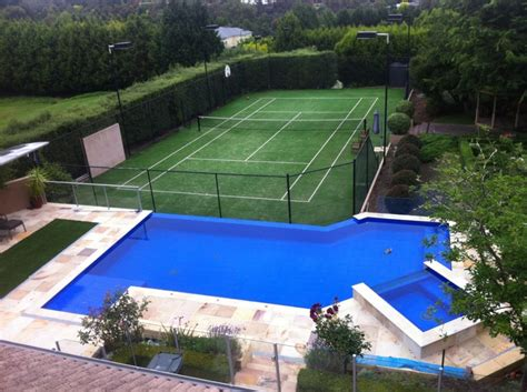 backyard tennis aquazone pools inground swimming pools gallery