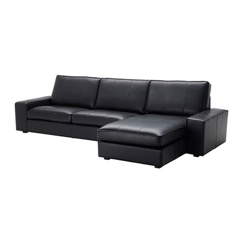 Sofa With Chaise Lounge Kivik Sofa And Chaise Lounge Grann Bomstad Black Ikea