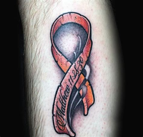 ribbon tattoos for men 70 cancer ribbon tattoos for supportive design ideas