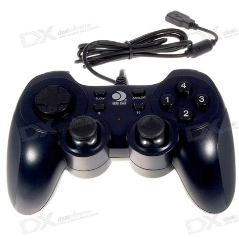 Promo Brand Gamepad Pc Dual Shock Controller usb 12 button dual shock vibrating gamepad controller with analog sticks for pc free shipping