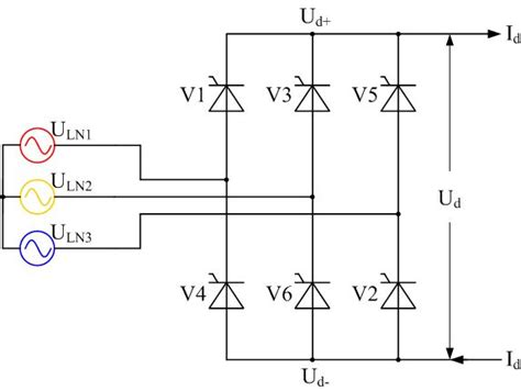 diode bridge 3 phase 3 phase rectifier 6 and 12 pulse reactifier 4 steps