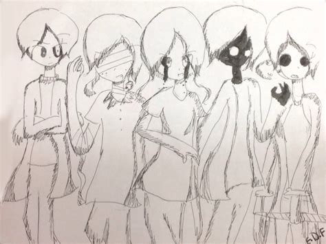Drawing Your Ocs by Inked Drawing Of My Creepypasta Ocs By