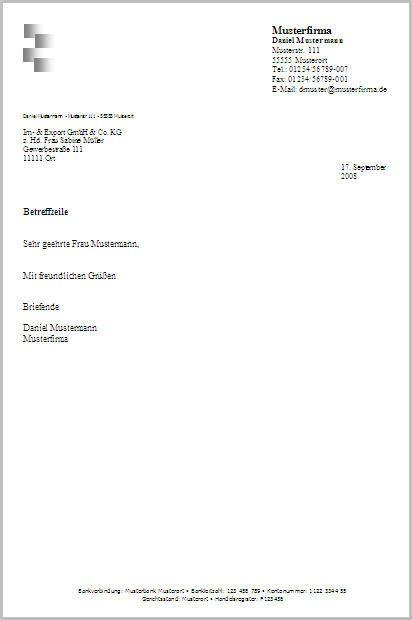 Word Vorlage C4 Mit Fenster Kostenlose Word Briefkopf Vorlagen Herunterladen