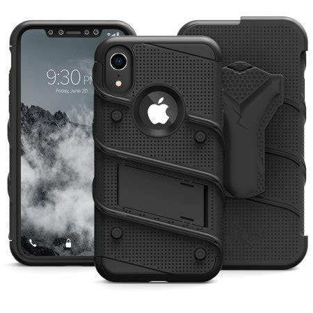 zizo bolt iphone xr tough screen protector black