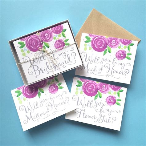 Handmade Will You Be My Bridesmaid Cards - will you be my bridesmaid cards mospens studio