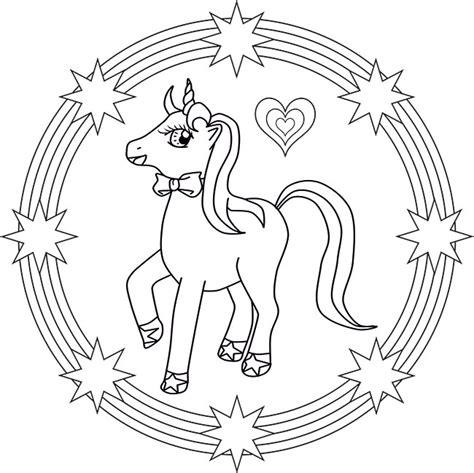 unicorn mandala coloring pages mandala einhorn mandala unicorn for kids mandalas