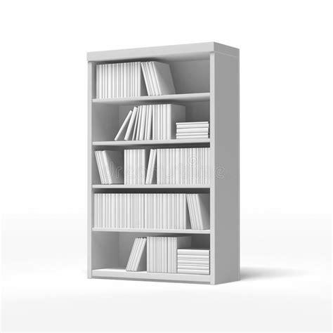 scaffali bianchi scaffali per libri bianchi illustrazione di stock