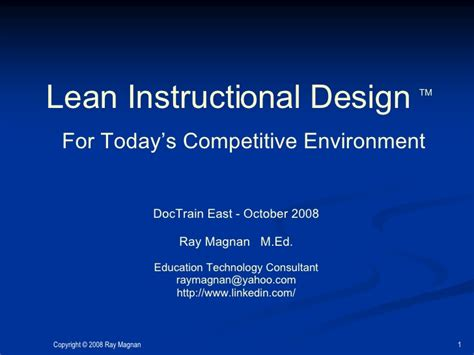 instructional design home based jobs ray magnan lean instructional design