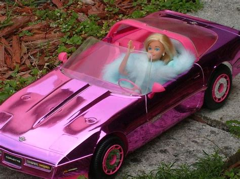 barbie corvette metallic pink barbie corvette barbies 1980 s 1990 s