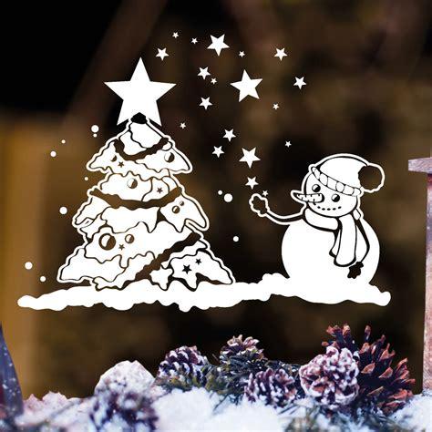 Fensteraufkleber Weihnachten by Fensteraufkleber Schneemann Und Weihnachtsbaum