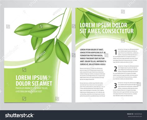 nature brochure template vector premium download vector nature brochure flyer template stock vector