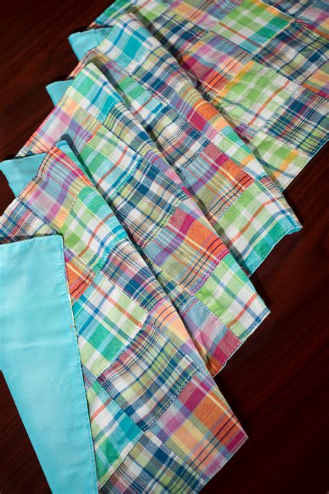 Plaid Table Runner by Table Runner Plaid Madras 14x72in