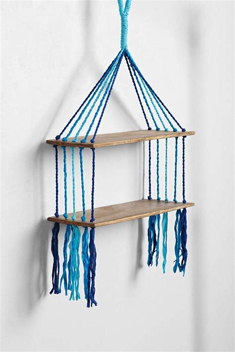 etagere outfitters magical thinking woven hanging shelf macrame and