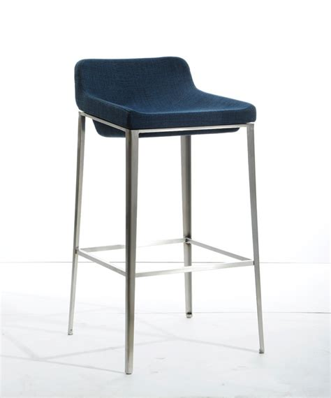 blue bar stools kitchen furniture modrest adhil mid century blue fabric bar stool