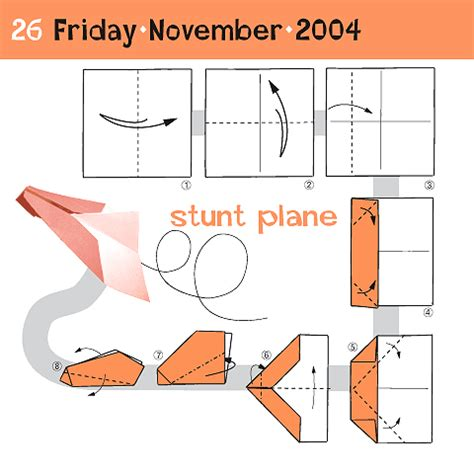 How To Make A Simple Paper Plane - how to fold a stunt plane november 26 nassira