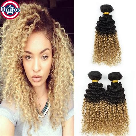 Hair Clip Ombre Curly ombre curly human hair extensions 3