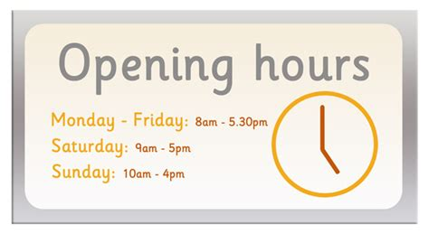 Usps Office Hour by Opening Hours Sign Free Early Years Primary Teaching