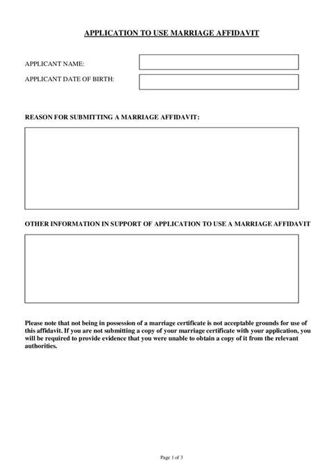 Application To Use Marriage Affidavit Edit Fill Sign Online Handypdf Manufacturer S Affidavit Template Fillable